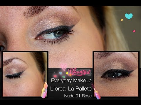Ежедневный макияж с палеткой Loreal 01 Nude Rose/ Everyday MAKEUP/ Sweetysweet Mari