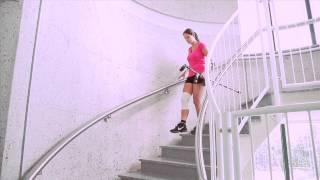 Onbelast traplopen met krukken