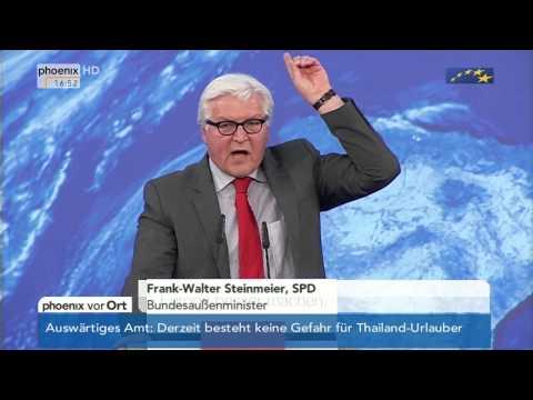 Europawahl - wütender Frank-Walter Steinmeier  vom 19.05.2014