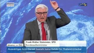 Europawahl - wГtender Frank-Walter Steinmeier  vom 19.05.2014