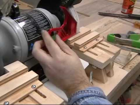 homemade grinder tool rest