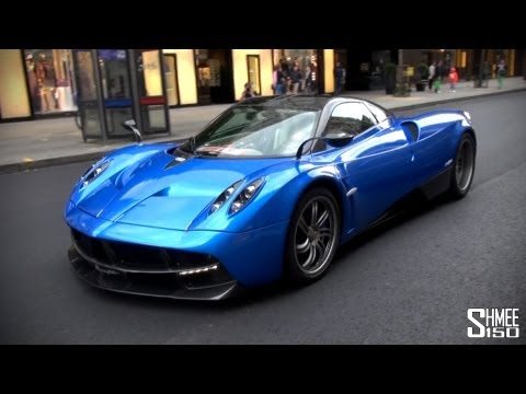 Arab Pagani Huayra on the road in London - Driving Clips