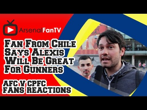 Fan From Chile Says Alexis Will Be Great For Gunners - Arsenal 2  Crystal Palace 1