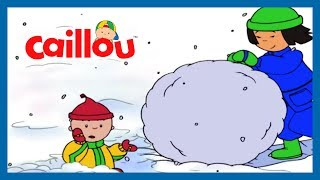 Funny Animated Cartoon   Caillou goes Ice skating   Cartoons for Kids