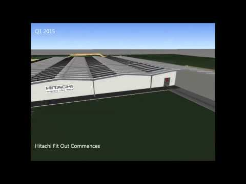Hitachi train factory video