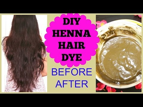 How To Apply Henna On Hair at Home.Henna Hair Before After Results