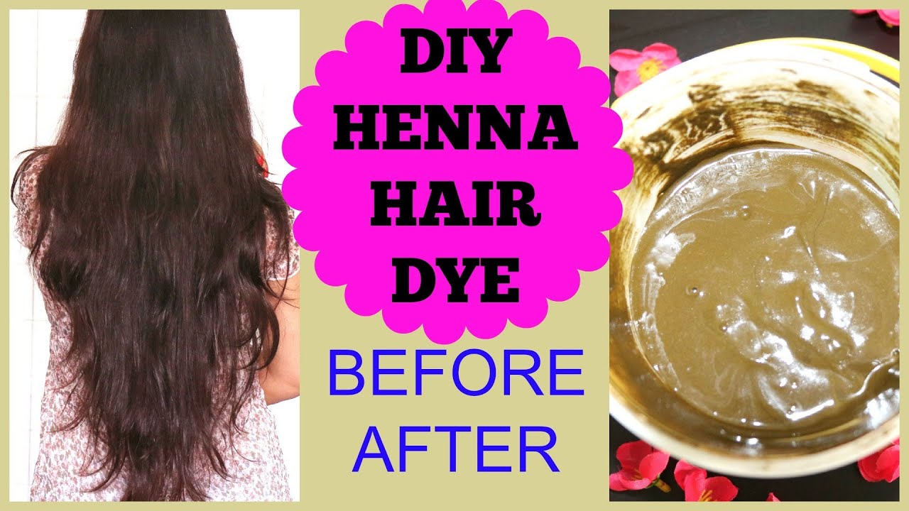 Mehndi For The Hair : How to apply henna on hair at home before after