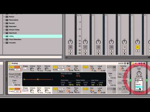 Audio Effect - Utility (Everything You Need To Know) Ableton Live