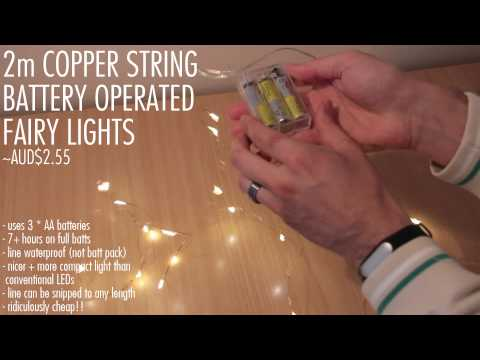 Ebay 2m Copper String Battery Operated Fairy Lights Review