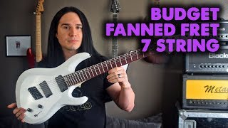 Prog on a Budget - The cheapest Fanned Fret guitar - Demo / Review