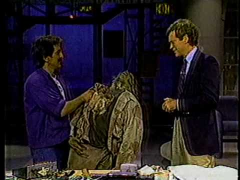 Tom Savini & David Letterman 1986