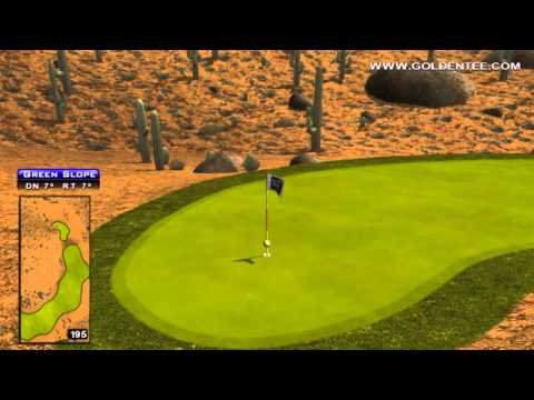 Golden Tee Great Shot on Jackrabbit Junction!