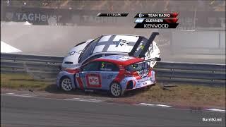 WTCR Zandvoort 2018 Race1 Start Muller Michelisz Big Crash
