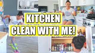 CLEAN WITH ME!  | Kitchen Deep Cleaning + Organizing Kitchen Drawers + Pantry