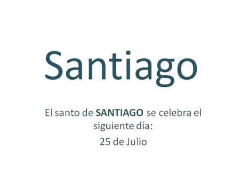 Significado y origen del nombre Santiago - YouTube