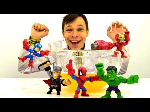 Мультик с Супергероями: Доктор Ой освобождает Супергероев из льда