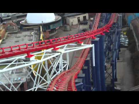 Blackpool Pleasure Beach: THE BIG ONE / Pepsi Max (Front Seat View)