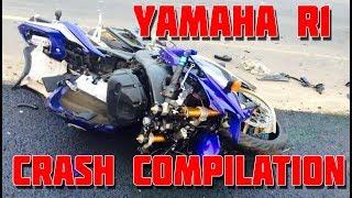 Yamaha R1 - CRASH Compilation [HD]