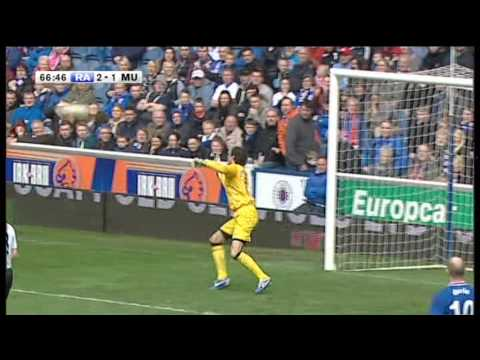 Ally McCoist 1st Goal (Sort Of) - Rangers Legends Vs Man Utd Legends - 6th May 2013
