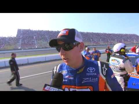Kyle Busch Angry Interview 2009 NASCAR Nationwide Michigan