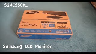 Samsung S24C550VL Unboxing with Video and Audio Test