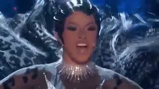 CARDI B SHOCKING PERFORMANE AT THE GRAMMYS or ACCEPTANCE SPEECH 360p