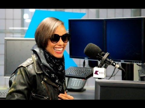 Alicia Keys at Kiss FM (UK) with Michael & Clara