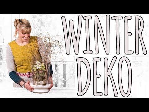Winter deko DIY - die Winterrose