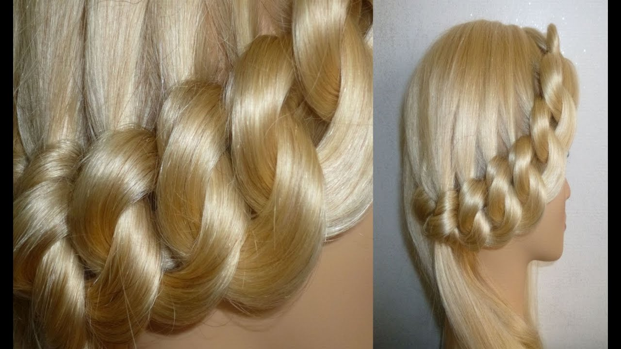 /Flechtfrisur.EASY Braided Updo.School Hairstyles. Peinados - YouTube