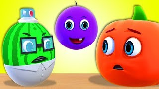 Learn Fruits with Five Little FRUITS | Kids Songs - Nursery Rhymes for Babies by All Babies Channel