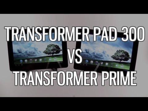 Asus Transformer Pad TF300 vs Transformer Prime TF201 comparison