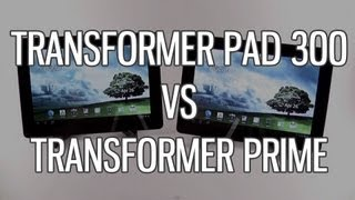 Asus Transformer Pad TF300 vs Transformer Prime TF201 comparison