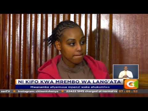 Mwanamke aliyemuua mpenzi wake ahukumiwa kifo