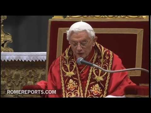 Benedict XVI homily for the ceremony to create six new cardinals