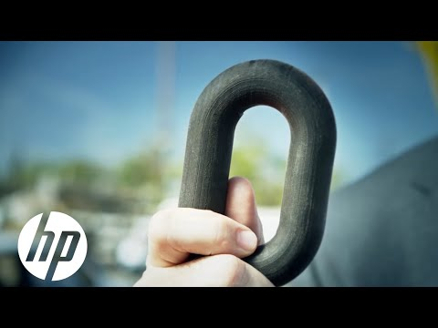 3D printed chain lifts car -- HP Multi Jet Fusion™ Technology