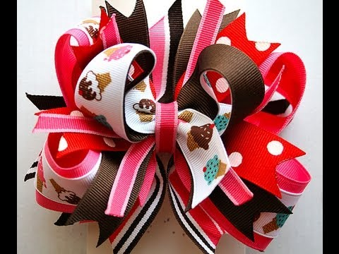 How to make a Stacked Boutique hair bow TUTORIAL