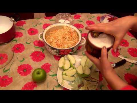 Квашеная капуста с яблоками. ВКУСНОТИЩА!!!
