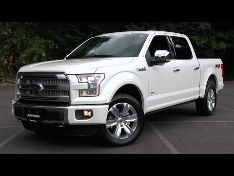 2015 Ford F-150 Platinum FX4 Start Up. Test Drive. and In Depth Review
