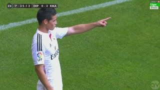 James Rodriguez Incredible Goal - Deportivo La Coruna vs Real Madrid 0-2 | 14/15 | [Cropped]