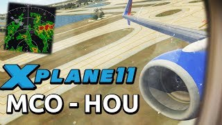 [X-Plane 11] Stormy Landing in the Southwest 737! | Boeing 737 Ultimate