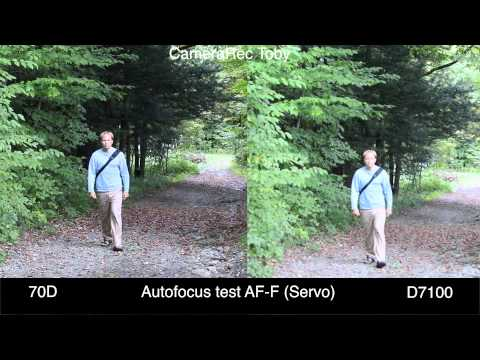 Canon 70D vs Nikon D7100- Video Quality. Focus Tracking. Moire Test