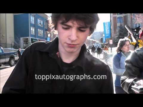 Freddie Highmore - Signing Autographs at the Sundance Film Festival