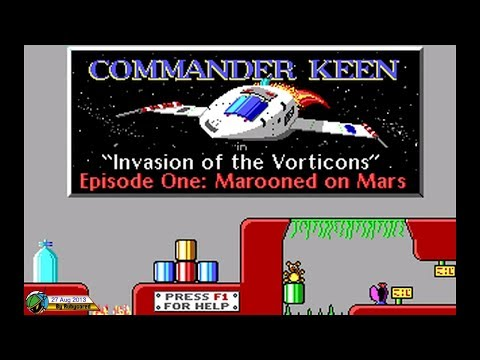 Commander Keen 1 (1991, MS-DOS) - Marooned on Mars (Full Longplay)[720p]