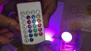 Lampara que cambia de color. LED 3 luces con control remoto