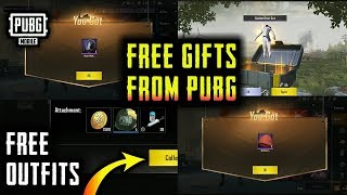 PUBG MOBILE GIVES ME FREE GIFTS AND OUTFITS FROM CRATE OPENING