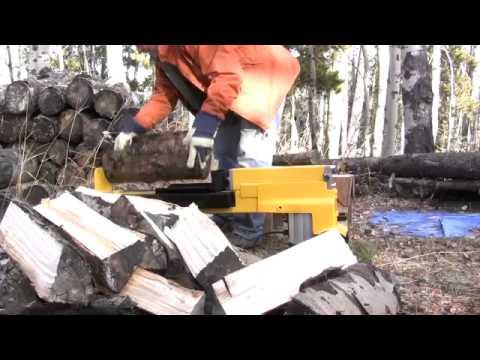 5 ton electric powered hydraulic log splitter