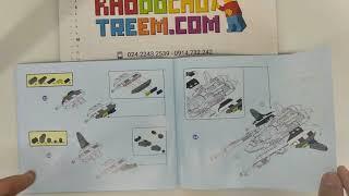 Hướng dẫn lắp ráp Gudi 8614 Lego Star Wars The White Lion Fighter giá rẻ