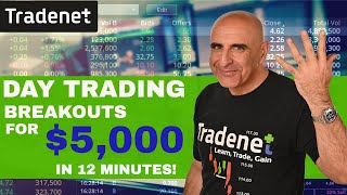 Live Day Trading Breakouts For $5,000 in 12 minutes!