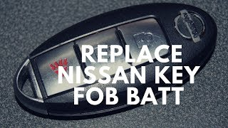 How To Replace Nissan Key Fob Battery Change - DIY Learning Tutorials