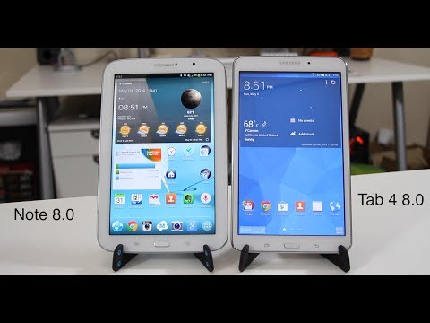 Samsung Galaxy Tab 4 8.0 vs Samsung Galaxy Note 8.0